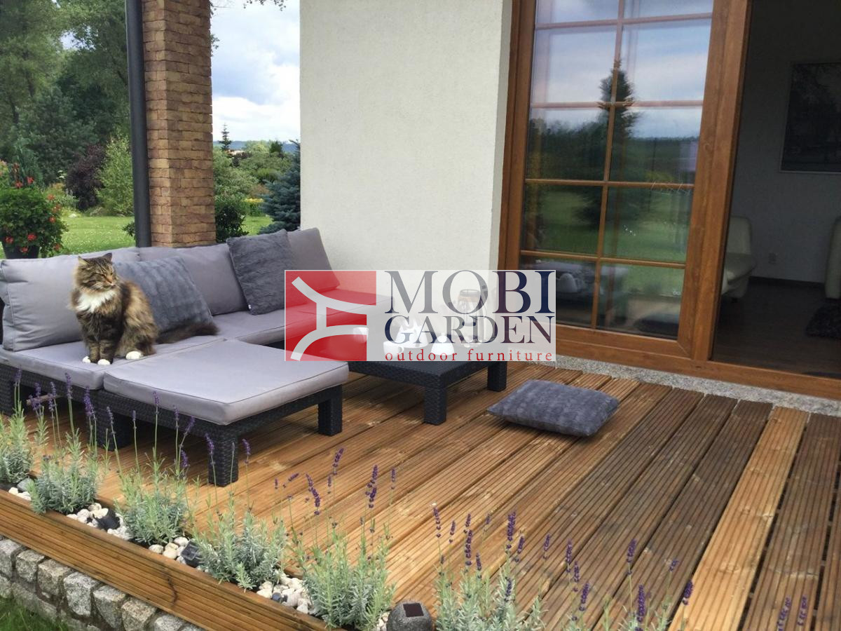 Set mobilier de terasa - Nevada Grafit/ Gri-rece