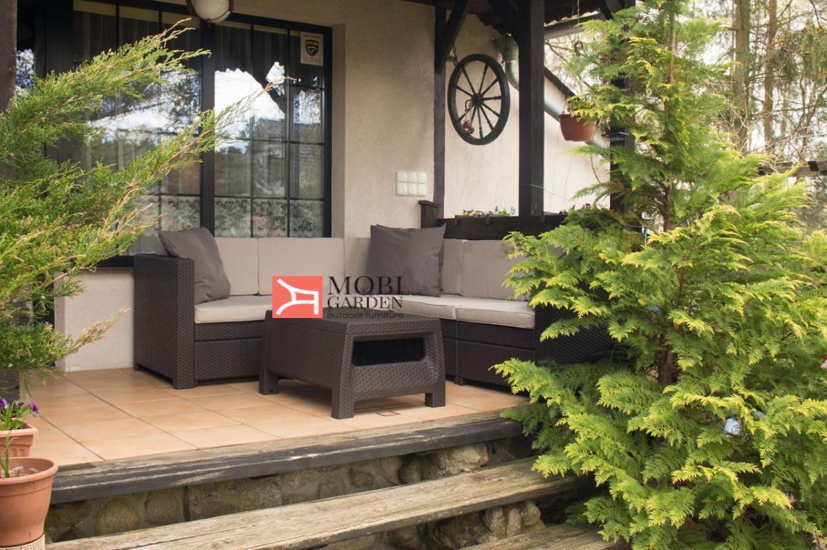 Set mobilier de terasa cu masuta de cafea - Provence Maro/Gri-taupe