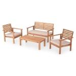 Set mobilier gradina, HAMAR, natur/gri
