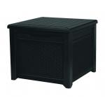 Cutie depozitare tip masuta, Cube rattan 208 L, grafit