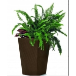 Ghiveci Medium Rattan Planter 55,4L, maro