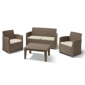 Set mobilier de gradina Corona Cappuccino/ Gri-nisipiu