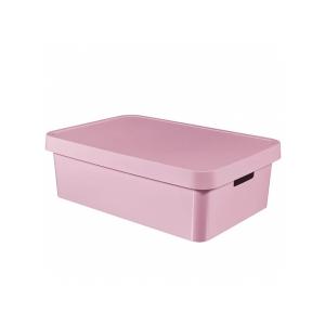 Cutie depozitare cu capac Infinity 17L roz