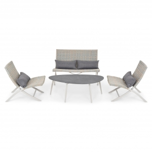 Set mobilier gradina MAYOR, Gri-rece/ Bej