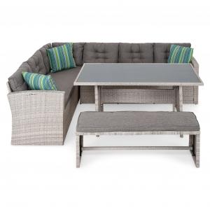 Set mobilier gradina/terasa 4 piese LAGUNA Gri