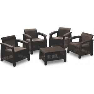 Set mobilier de gradina Corfu Quattro Maro/ Gri-Taupe