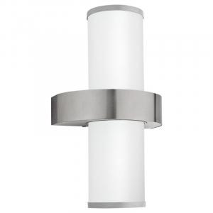 Aplica exterior EGLO BEVERLY 86541, E27 2x60W, Inox/Argintiu
