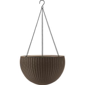 Ghiveci suspendat din rattan - Hanging Sphere Maro/Auriu