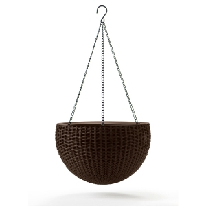 Ghiveci suspendat din rattan - Hanging Sphere Mocca