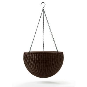 Ghiveci suspendat din rattan - Hanging Sphere Mocca