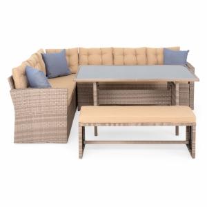 Set mobilier de gradina, Laguna, natur/crem