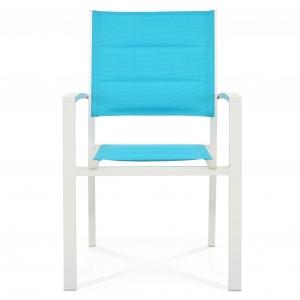 Scaun suprapozabil DUNE, alb-albastru