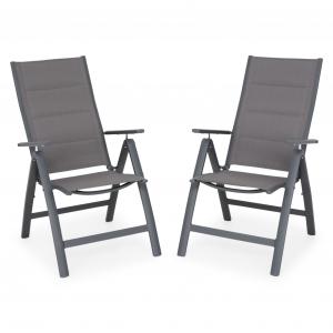 Set 2 scaune terasa pliabile, Easy, gri