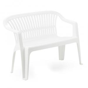 Banca plastic Tahiti, alb
