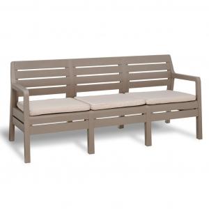 Canapea de gradina, Delano 3 locuri, cappuccino