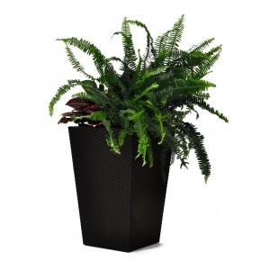 Ghiveci de flori, Keter, Rattan Planter S 23,6L, grafit