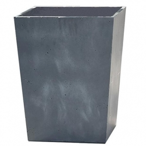 Ghiveci beton Conic, Keter, L 40 cm, gri inchis
