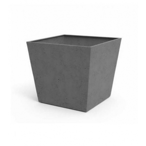 Ghiveci Beton Square 48 cm, Keter, gri-inchis