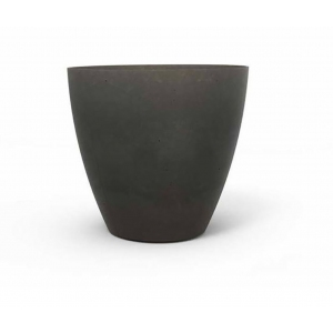 Ghiveci Beton planter round L, Keter, D 40 cm, gri inchis