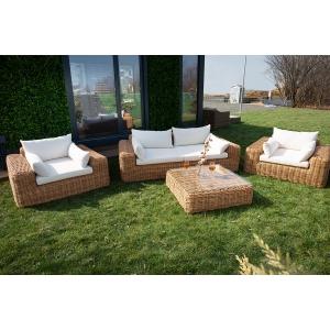 Set mobilier premium de terasa, King, ratan sintetic