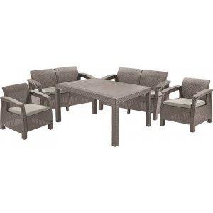 Set mobilier de gradina CORFU II FIESTA Capuccino/ Gri-nisipiu