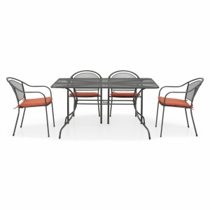 Set mobilier metalic de terasa, Chayne, 6 scaune