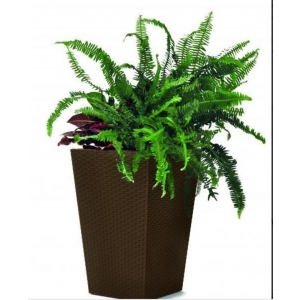 Ghiveci Small Rattan Planter 23.6l, maro