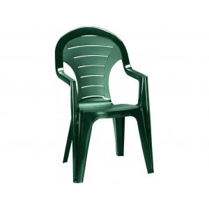 Scaun de plastic pentru terasa, Bonaire, verde inchis