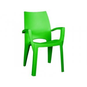 Scaun de plastic pentru terasa Spring, verde deschis