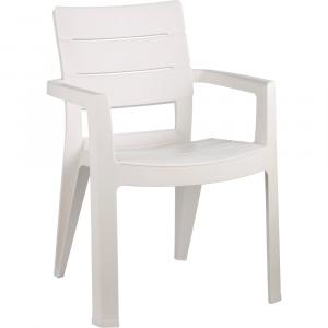 Scaun de plastic pentru terasa - ibiza - alb