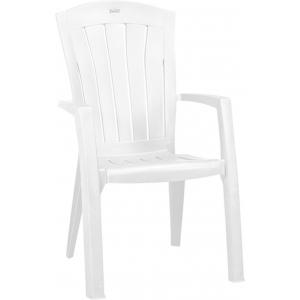 Scaun de plastic pentru terasa - santorini - alb