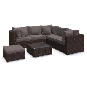 Set mobilier Nilamito PREMIUM IX Maro/ Gri