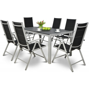 Set mobilier gradina Sydney Argintiu