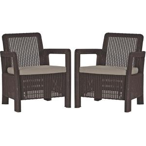 Set 2 scaune gradina Tarifa Maro/Gri-Taupe