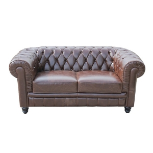Canapea de interior Chesterfield Maro Inchis