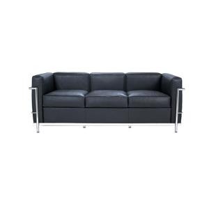 Canapea de interior Le Corbusier - Trei persoane - Negru