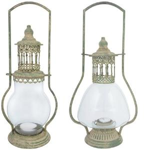 Lampa din metal antichizata