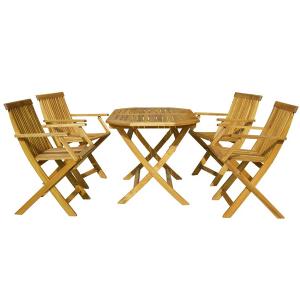 Set mobilier de gradina Basic 4 persoane Galben-rosiatic