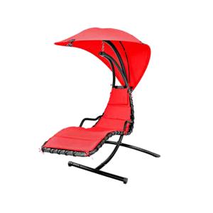 Balansoar suspendat cu umbrela Dream Rosu