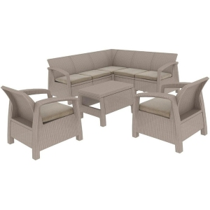 Set mobilier de gradina Curver Corfu Relax Duo Cappuccino