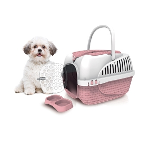 Cusca roz  transport Maxi Kennel
