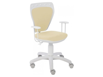 Scaun birou copil rotativ alb