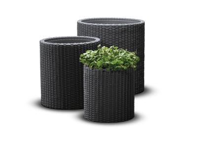 Set ghivece cilindrice S+M+L Planters - Antracit