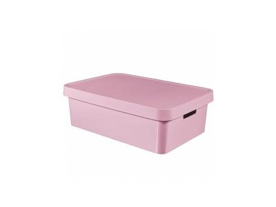 Cutie depozitare cu capac Infinity 30L roz