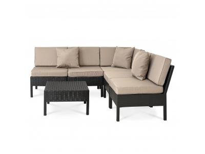 Set mobilier gradina/terasa 6 piese SAN MARINO Antracit/ Taupe