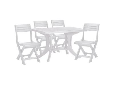 Set mobilier pliabil pentru balcon - Funky - Alb