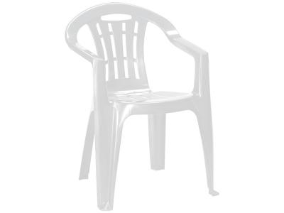 SCAUN DE PLASTIC PENTRU TERASA - MALLORCA ALB