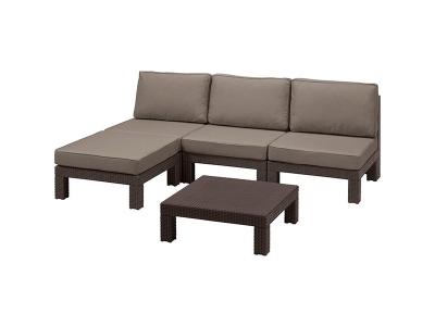 Set mobilier de terasa - Nevada Maro/Gri-taupe