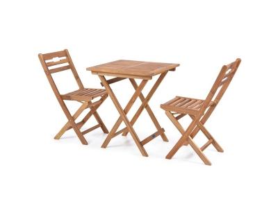 Set mobilier din lemn Balcony 2 persoane Galben-Rosiatic
