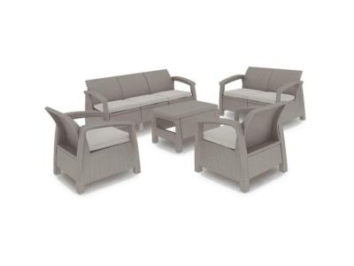 Set mobilier de gradina Curver Corfu Triple Max Cappuccino